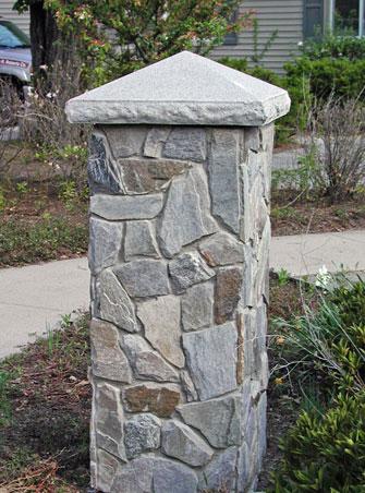 Real Fieldstone Pillar